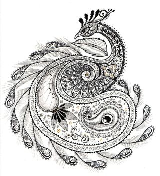 Paisley Peacock by Ladyegg
