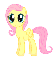 Fluttershy (simple gif animation) by negasun