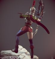 Roman Archer (Game Art) - Pose04 by Rhythem02