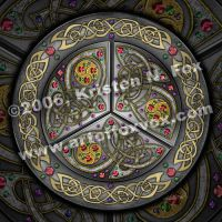 Bejeweled Celtic Shield by foxvox