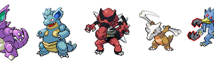 Mega Evolutions - Request by S-Yaridovich9X