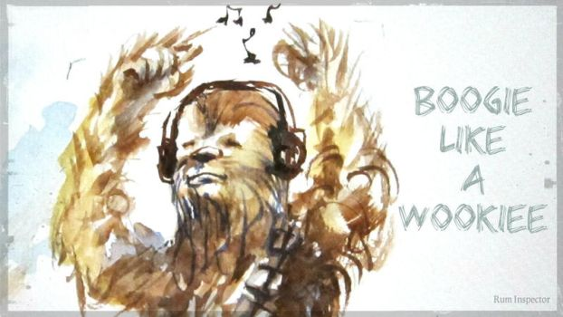 Boogie Like A Wookiee! Chewbacca fan art by rum-inspector