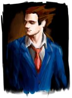 Phoenix Wright WIP by Raria