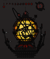 Clockwork Projection orrery by TenebraesRising