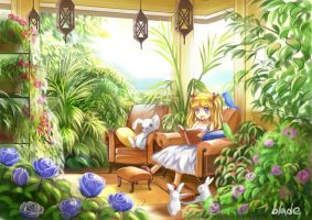 Peaceful Reading by AmberClover
