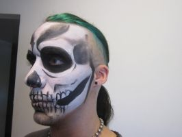 Skeleton facepaint 3 by TsunamiTheWave