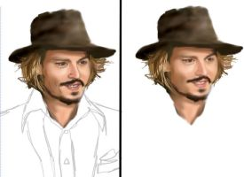 Johnny Depp 4- WIP 1 by mel-lyks-cereal