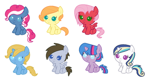 Shipping Foal Adoptables CLOSED!!!! by TigerPrincessKaitlyn