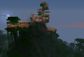 epic tree house by cynderplayer