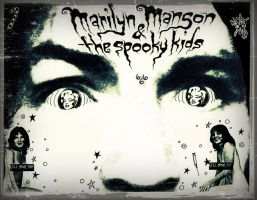 Marilyn Manson and the Spooky Kids Flyer by zombis-cannibal