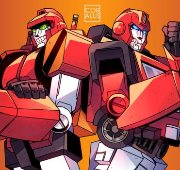 Dumpson and Ironhide by c0ralus