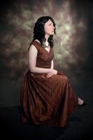 Copper Dress Seated by Syagria