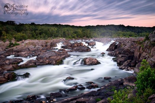 Sunrise Over Great Falls by Creative--Dragon