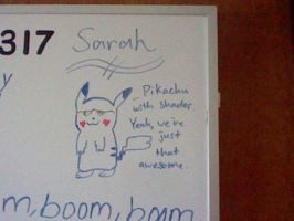 Pikachu on my White Board by PikaYugi4Ever93