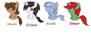 Filly Adoptables [ Open ] by GaiaGirl2468