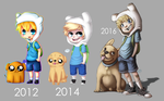 Draw this again: Finn and Jake by WTFmoments
