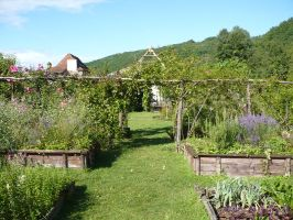 Garden 3 - medieval by Cat-in-the-Stock