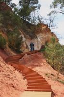 stairs ocres Roussillon by ingeline-art
