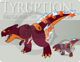 Fake Pokemon - Tyruption by Prinny-Dood