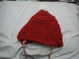 Crochet Christmas hat by Bella-Who-1