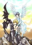 Devil and Angel:: DinoHibari by D18club