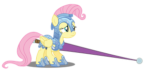 Fluttershy in Jousting Armour Vector by Camsy34