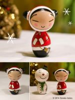 Pucca Inspired Doll: A Christmas Wish by ZanetaGc