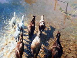 'Onwards Bound' 30 x 40 By Robert Hagan by robert-hagan