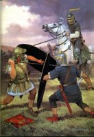Roman Cav. duel on foot by Fall3NAiRBoRnE