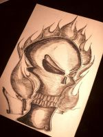 Skull sketch by 1jazzy1
