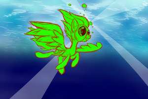 Rainbow dash swimming in the ocean [Vector Collab] by swedishpancaces