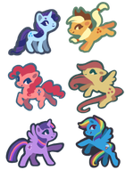 Mane Six by Queerly