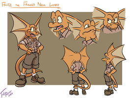 Character Design: Fritz the Frilled Lizard by forte-girl7