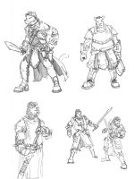 Wolfish fighters by Equussapiens