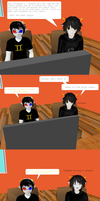 Homestuck Comic - Hiding Behind a Wall by SomeoneCoolerThanYou