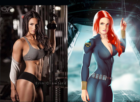 Erin Crawford IS Black Widow By Ulics by zenx007