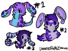 Earmouth Adoptables (purple) by RRadopts