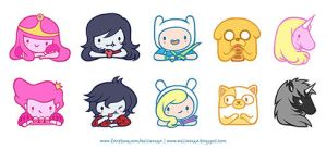 adventure time stickers by weiliwonka