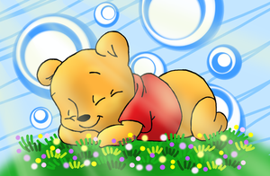 The Sun is as Warm as a Blanket -winnie the pooh by DoddleFur