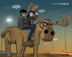 Murdoc, Shedevil and MOOSE by iricolor