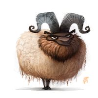 Day 518. A sheep by Cryptid-Creations