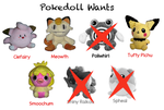 Pokedoll Wants List by Fishlover