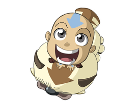 Chibi Aang and Appa by GKC07NF