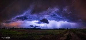 Summer evening storm by NorbertKocsis