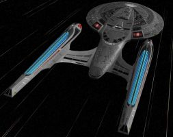 Enterprise-E at Warp by mckinneyc