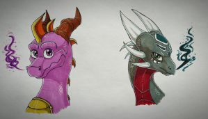 The Legendary Duo  by IcelectricSpyro