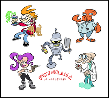 Futurama stylized by Brah-J