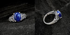 Tribal Lapis Ring by Gweyeni