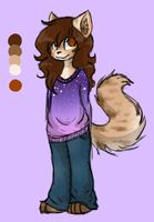 Fursona Reference by JustALittleShadow