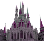 Castle Magenta Clear-Cut by WDWParksGal-Stock